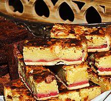 Raspberry-Almond Slices by Susie Peek