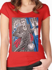 "The Twelfth Doctor (""All Thirteen!"") Women's Fitted Scoop T-Shirt"