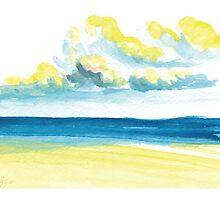 """Another Dawn Seascape"" 2011 Kauai, HI © Meagan Healy by Meagan Healy"