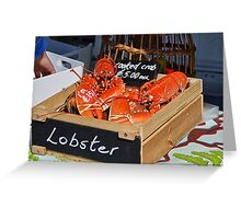 Freshly-Cooked Lobsters For Sale Greeting Card