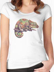 Hippy Chameleon  Women's Fitted Scoop T-Shirt