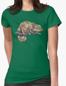 Hippy Chameleon  Womens Fitted T-Shirt