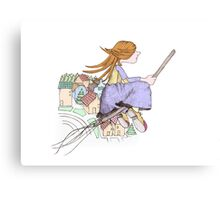 girl flying Canvas Print