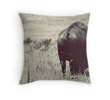 Bison Butt Throw Pillow