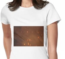 Burn. Womens Fitted T-Shirt