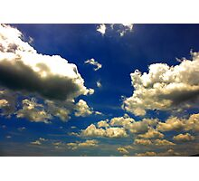 Etheral Sky Wrapped in Clouds Photographic Print