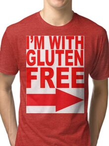 I'm With Gluten Free T-Shirt (right arrow) Tri-blend T-Shirt