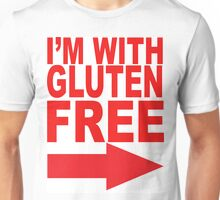 I'm With Gluten Free T-Shirt (right arrow) Unisex T-Shirt