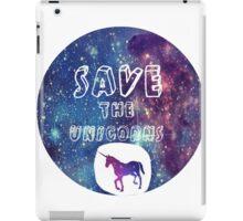 Save the Unicorns!  iPad Case/Skin