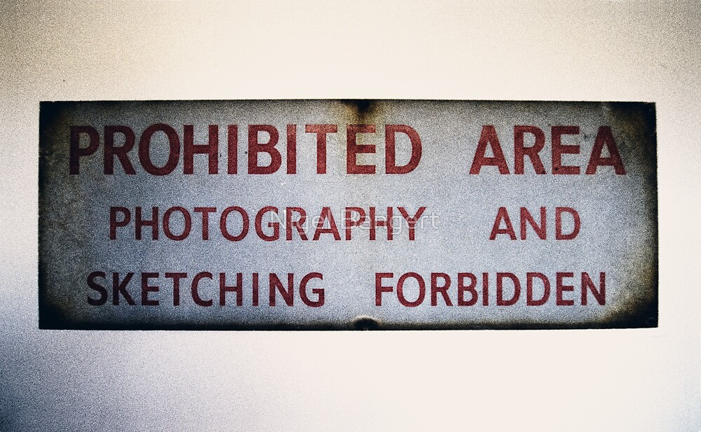No Photography or Sketching  by Nigel Bangert