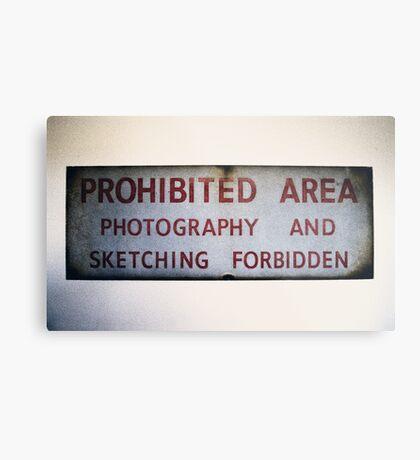 No Photography or Sketching  Metal Print