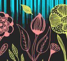 Hand Drawn Flower & Rain Scene Sticker
