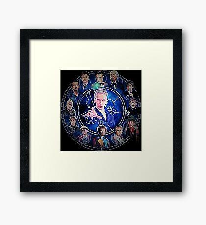 Doctor who (all 13 doctors) Framed Print
