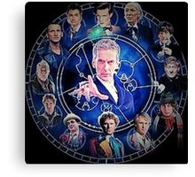 Doctor who (all 13 doctors) Canvas Print