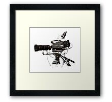 lights, camera, action Framed Print
