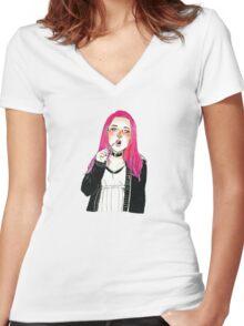 brush Women's Fitted V-Neck T-Shirt