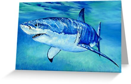 Great White Shark by Wayne Dowsent
