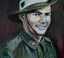 "ANZAC Portrait Series 4 - ""JOE"" Part 1  by Wayne Dowsent"