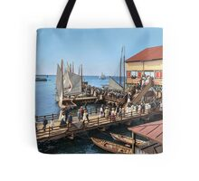 Pier at the inlet, Atlantic City, N.J. year 1904 Tote Bag