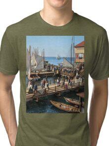 Pier at the inlet, Atlantic City, N.J. year 1904 Tri-blend T-Shirt