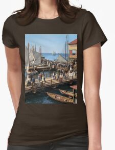 Pier at the inlet, Atlantic City, N.J. year 1904 Womens Fitted T-Shirt