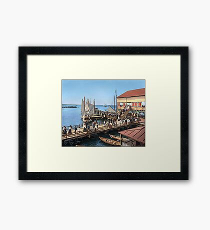 Pier at the inlet, Atlantic City, N.J. year 1904 Framed Print