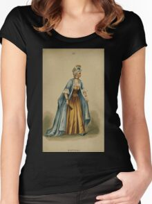 Fancy dresses described or What to wear at fancy balls by Ardern Holt 294 Watteau Women's Fitted Scoop T-Shirt
