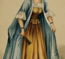 Fancy dresses described or What to wear at fancy balls by Ardern Holt 294 Watteau Sticker