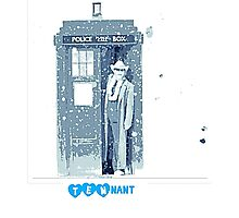 doctor who 10th doctor- David Tennant (snow effect) Photographic Print