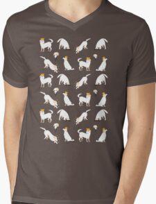 White labrador Mens V-Neck T-Shirt