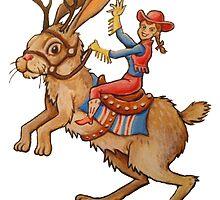 Jackalope Cowgirl by eliwolff