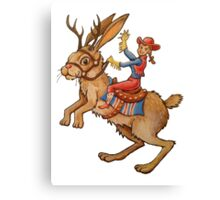 Jackalope Cowgirl Canvas Print
