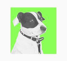 Jack Russell Crossbreed in Green Headshot Unisex T-Shirt