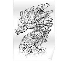 Clockwork Dragon BW II Poster
