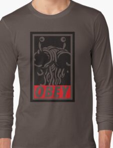 Flying Spaghetti Monster Obey Parody Long Sleeve T-Shirt