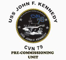 Pre-Commissioning Unit John F. Kennedy (PCU-79) Crest by Spacestuffplus