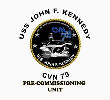 Pre-Commissioning Unit John F. Kennedy (PCU-79) Crest Unisex T-Shirt