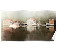 Nelson  Boat Sheds Poster
