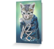 Puss in Boot (with Background) Greeting Card