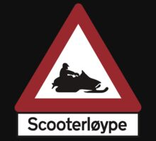Scooter Track, Road Sign, Norway One Piece - Short Sleeve