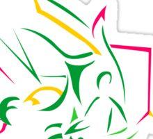 Rayquaza Line Art Sticker