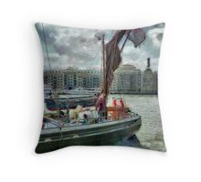 The Sailing Barge Lady Daphne Throw Pillow