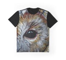 Tawny Owl in Coloured Pencil Graphic T-Shirt