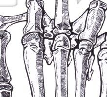 Skeletal Middle Finger Sticker