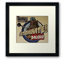 Comic style doctor who dalek  Framed Print