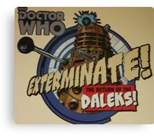 Comic style doctor who dalek  Canvas Print