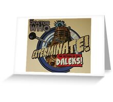 Comic style doctor who dalek  Greeting Card