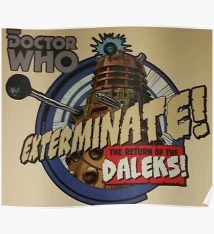 Comic style doctor who dalek  Poster