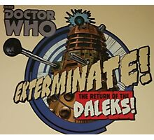 Comic style doctor who dalek  Photographic Print