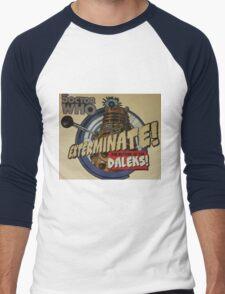 Comic style doctor who dalek  Men's Baseball ¾ T-Shirt